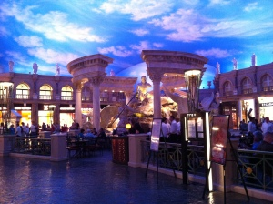 This is INSIDE Ceasar's Palace!